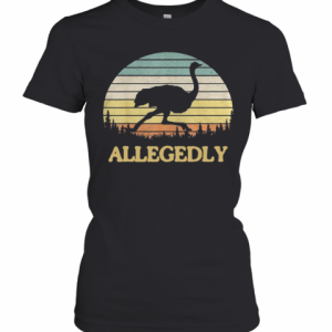 Allegedly Ostrich Retro Flightless Bird Lover T-Shirt Classic Women's T-shirt