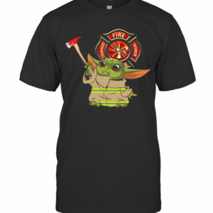 Baby Yoda Courage Fire Honor 2020 T-Shirt Classic Men's T-shirt