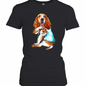 Basset Hound Tattoo I Love Mom T-Shirt Classic Women's T-shirt