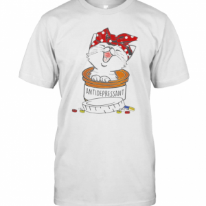 Cat Pill Antidepressant T-Shirt Classic Men's T-shirt