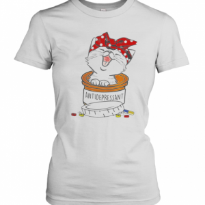 Cat Pill Antidepressant T-Shirt Classic Women's T-shirt