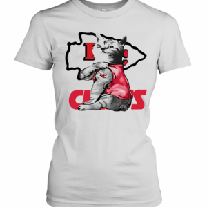 Cat Tattoo Kansas City Chiefs T-Shirt Classic Women's T-shirt
