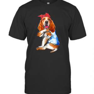 Dog Basset Hound I Love Mom T-Shirt Classic Men's T-shirt