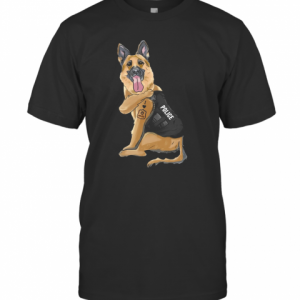 German Shepherd I Love Police T-Shirt Classic Men's T-shirt