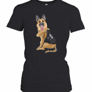 German Shepherd I Love Police T-Shirt Classic Women's T-shirt