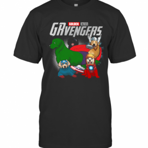 Golden Retriever Grvengers Marvel Avengers T-Shirt Classic Men's T-shirt