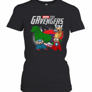 Golden Retriever Grvengers Marvel Avengers T-Shirt Classic Women's T-shirt