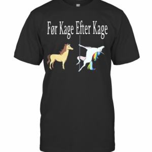 Horse And Unicorn Før Kage Efter Kage T-Shirt Classic Men's T-shirt