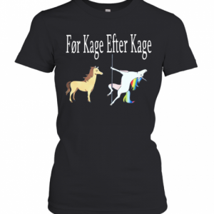 Horse And Unicorn Før Kage Efter Kage T-Shirt Classic Women's T-shirt