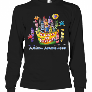It's Ok To Be Diferent Autism Awareness T-Shirt Long Sleeved T-shirt