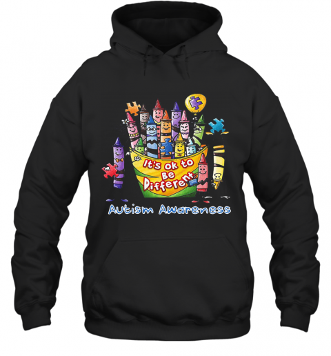 It's Ok To Be Diferent Autism Awareness T-Shirt Unisex Hoodie