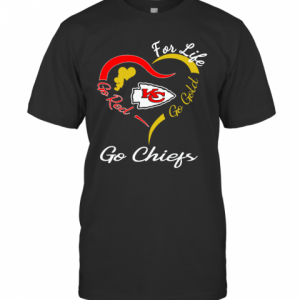 Kansas City Chiefs Heart For Life Go Red Go Gold Go Chiefs T-Shirt Classic Men's T-shirt