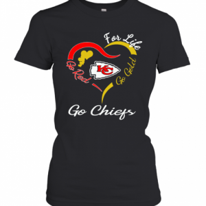 Kansas City Chiefs Heart For Life Go Red Go Gold Go Chiefs T-Shirt Classic Women's T-shirt