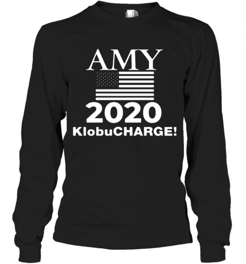 Klobucharge Amy Klobuchar 2020 President American Flag T-Shirt Long Sleeved T-shirt