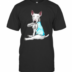 Miniature Bull Terrier Tattoos I Love Mom T-Shirt Classic Men's T-shirt