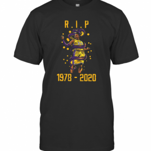 R.I.P Kobe Bryant 1978 2020 Los Angeles Lakers Black Mamba Out T-Shirt Classic Men's T-shirt