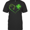 Rabbit Shamrock Heart Love St Patrick'S Day T-Shirt Classic Men's T-shirt
