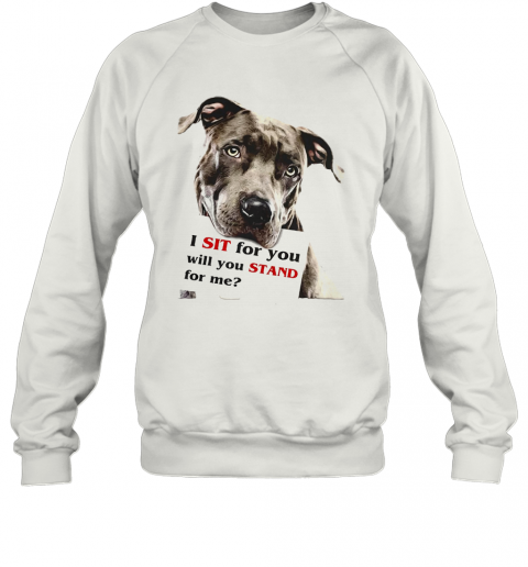 Rottweiler Dog I Sit For You Will You Stand For Me T-Shirt Unisex Sweatshirt