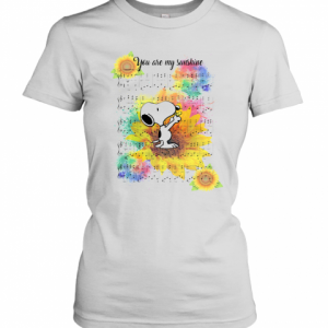 Snoopy And Sunflower You Are My Sunshine T-Shirt Classic Women's T-shirt