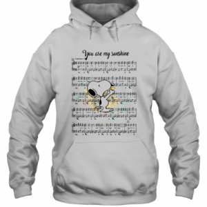 Snoopy You Are My Sunshine Chords T-Shirt Unisex Hoodie