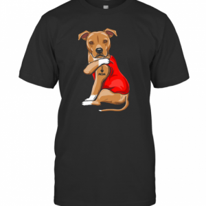 Staffordshire Terrier I Love Mom Tattoo T-Shirt Classic Men's T-shirt