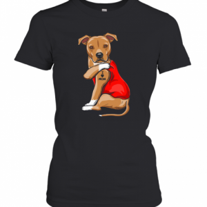 Staffordshire Terrier I Love Mom Tattoo T-Shirt Classic Women's T-shirt