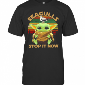 Star Wars Seagulls Baby Yoda Stop It Now T-Shirt Classic Men's T-shirt
