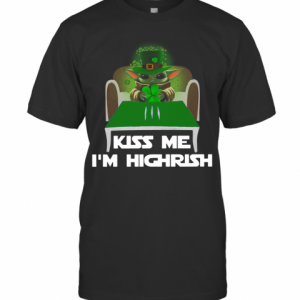 Baby Yoda Kiss Me Im Highrish T-Shirt Classic Men's T-shirt