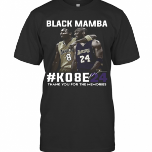 Black Mamba #Ko8e24 Thank You For The Memories T-Shirt Classic Men's T-shirt