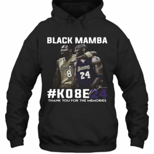 Black Mamba #Ko8e24 Thank You For The Memories T-Shirt Unisex Hoodie