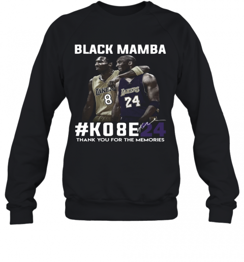 Black Mamba #Ko8e24 Thank You For The Memories T-Shirt Unisex Sweatshirt