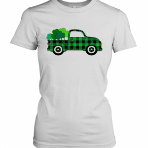 Buffalo Plaid Truck St. Patrick'S Day T-Shirt Classic Women's T-shirt