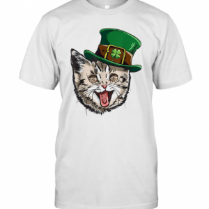 Cat Leprechaun St Patricks Cattys Catricks Day T-Shirt Classic Men's T-shirt
