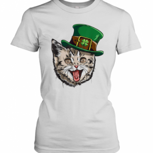 Cat Leprechaun St Patricks Cattys Catricks Day T-Shirt Classic Women's T-shirt
