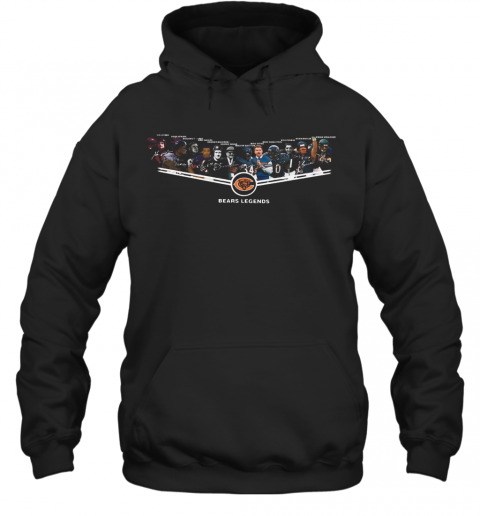 Chicago Bears Legends 6Id Luckman Doua Atkins Bulldog Turner Gale Sayers T-Shirt Unisex Hoodie