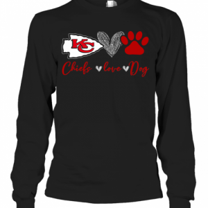 Chieds Peace Love Dog T-Shirt Long Sleeved T-shirt