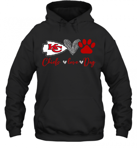 Chieds Peace Love Dog T-Shirt Unisex Hoodie