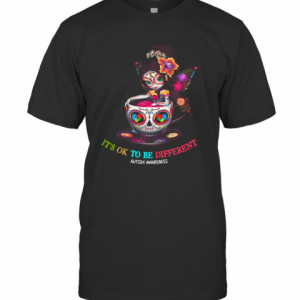 Girl Tattoos It's Ok To Be Different Autism Awareness T-Shirt Classic Men's T-shirt