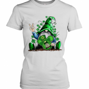 Gnome Hug Mickey Clover Irish St. Patrick'S Day T-Shirt Classic Women's T-shirt