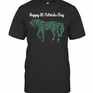 Great Horse Shamrock Horse Riding Lover St Patricks Day T-Shirt Classic Men's T-shirt