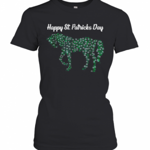 Great Horse Shamrock Horse Riding Lover St Patricks Day T-Shirt Classic Women's T-shirt