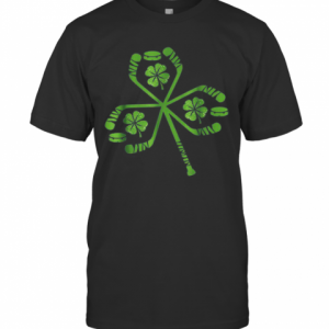 Hockey St Patrick Day Shamrock Hockey Irish T-Shirt Classic Men's T-shirt