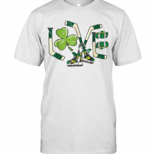 Ice Hockey Love St Patricks Day Cute Gift Goalie Clover Boys T-Shirt Classic Men's T-shirt