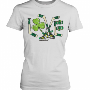 Ice Hockey Love St Patricks Day Cute Gift Goalie Clover Boys T-Shirt Classic Women's T-shirt