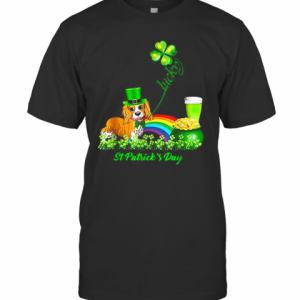 Lucky Cavalier Dog Shamrock St Patrick'S Day T-Shirt Classic Men's T-shirt