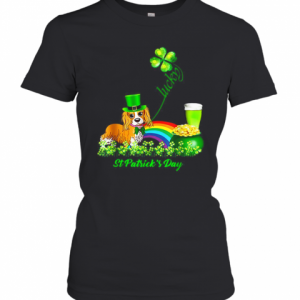 Lucky Cavalier Dog Shamrock St Patrick'S Day T-Shirt Classic Women's T-shirt