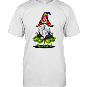 Pretty Hippie Tie Dye Gnomes Yoga St Patrick'S Day Shamrock Namaste T-Shirt Classic Men's T-shirt