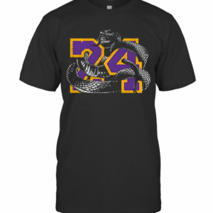 RIP 24 Kobe Bryant The Black Mamba Snake T-Shirt Classic Men's T-shirt