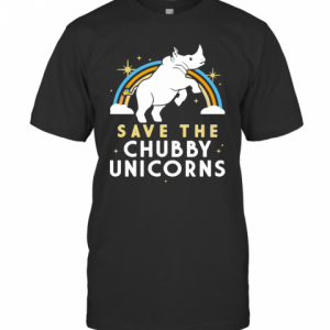 Rainbow Save The Chubby Unicorns T-Shirt Classic Men's T-shirt