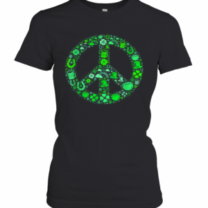 St Patrick Day Gifts For Men Women Hippie Peace Love T-Shirt Classic Women's T-shirt